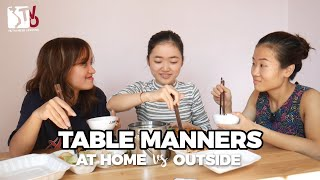 Table manners: At home vs outside | Learn Vietnamese with TVO