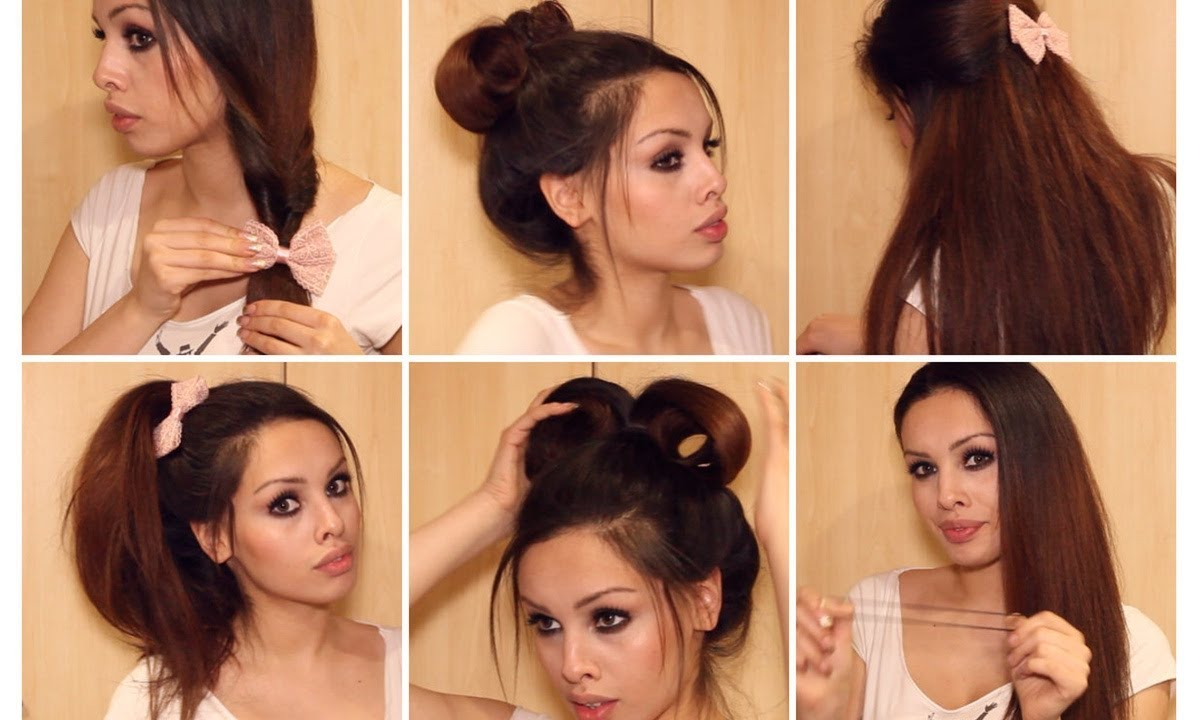 Running Late? Quick & Easy Hairstyles for School ♡ Heatless ...