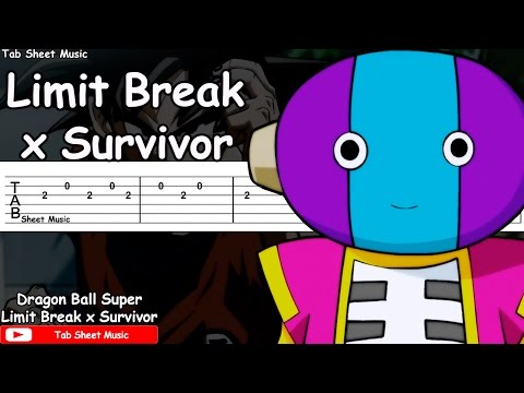 Dragon Ball Super OP 2 - Limit Break x Survivor Guitar Tutorial