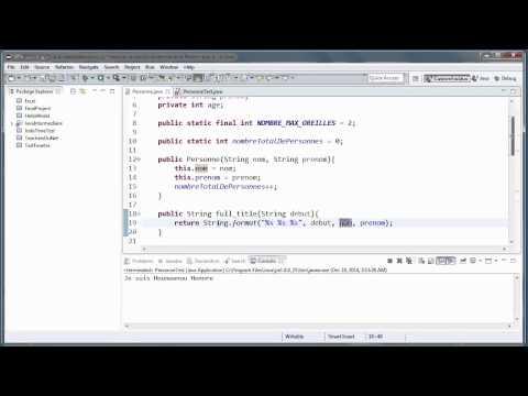 JAVA (Intermédiaire) - 18 - La surcharge de méthodes en Java