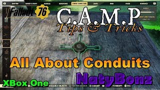 """Fallout 76 Camp build Tips and Tricks """"Conduits"""""""