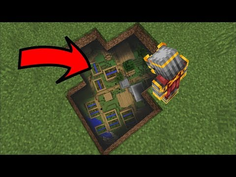 DISCOVERING A CITY UNDERNEATH THE SOIL IN MINECRAFT !! Minecraft Mods