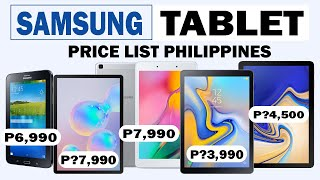 Samsung Tablet Price List in the Philippines 2020