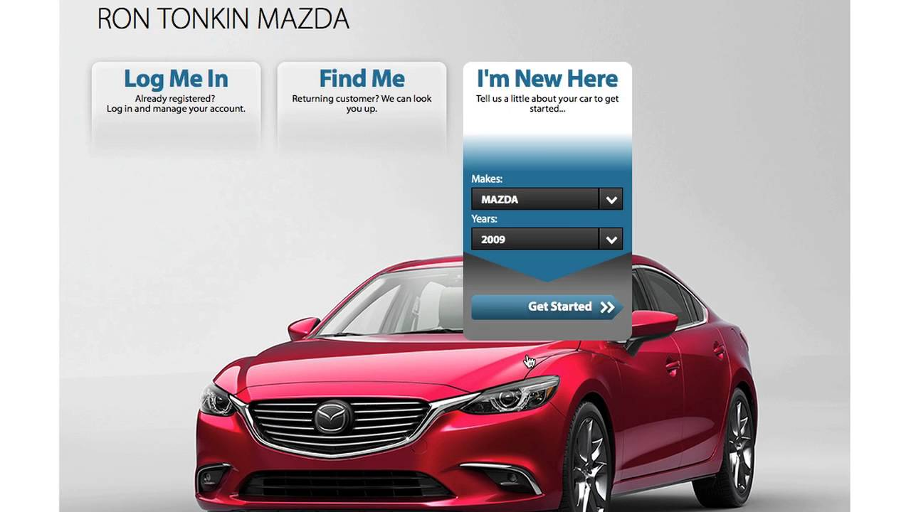 how to schedule service on line at ron tonkin mazda - youtube