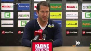 SK Sturm: Mediabriefing vor FC Admira Wacker Mödling (19. Runde 2015/16)