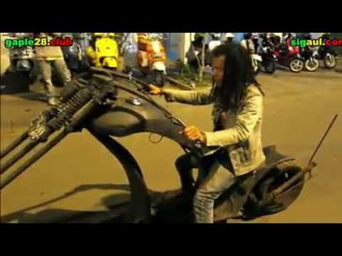 Vespa Gembel Unik dan Lucu || limousinn indonesia