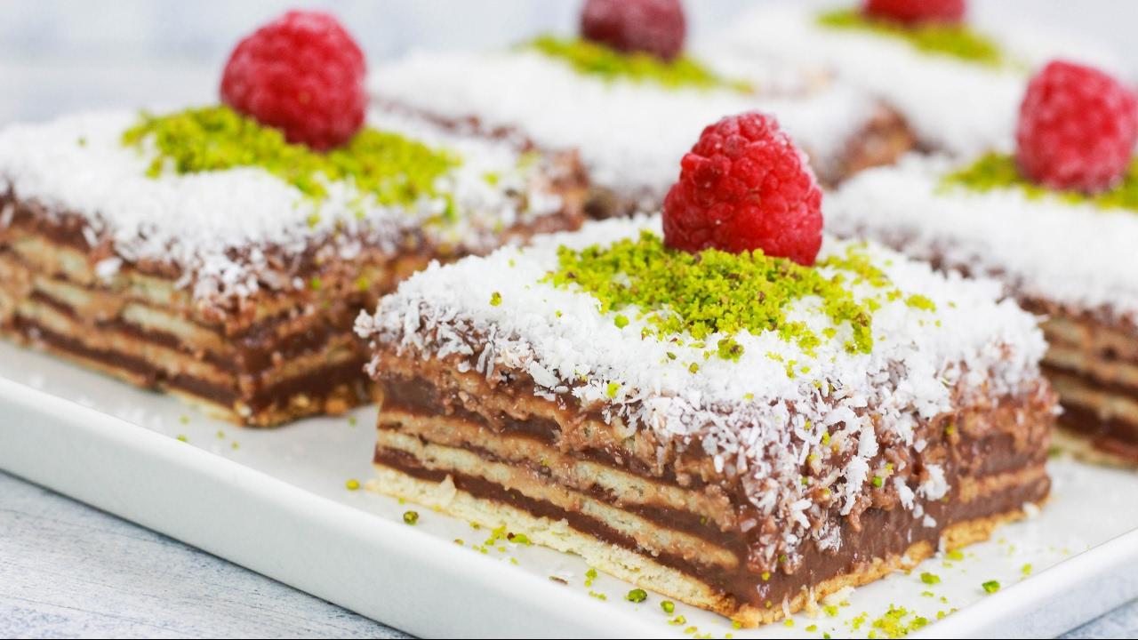 Butterkeks Pudding Kuchen Mit Nur 3 Zutaten Butterkekskuchen Mit