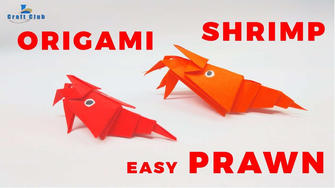 How To Make Easy Cute Paper Prawn