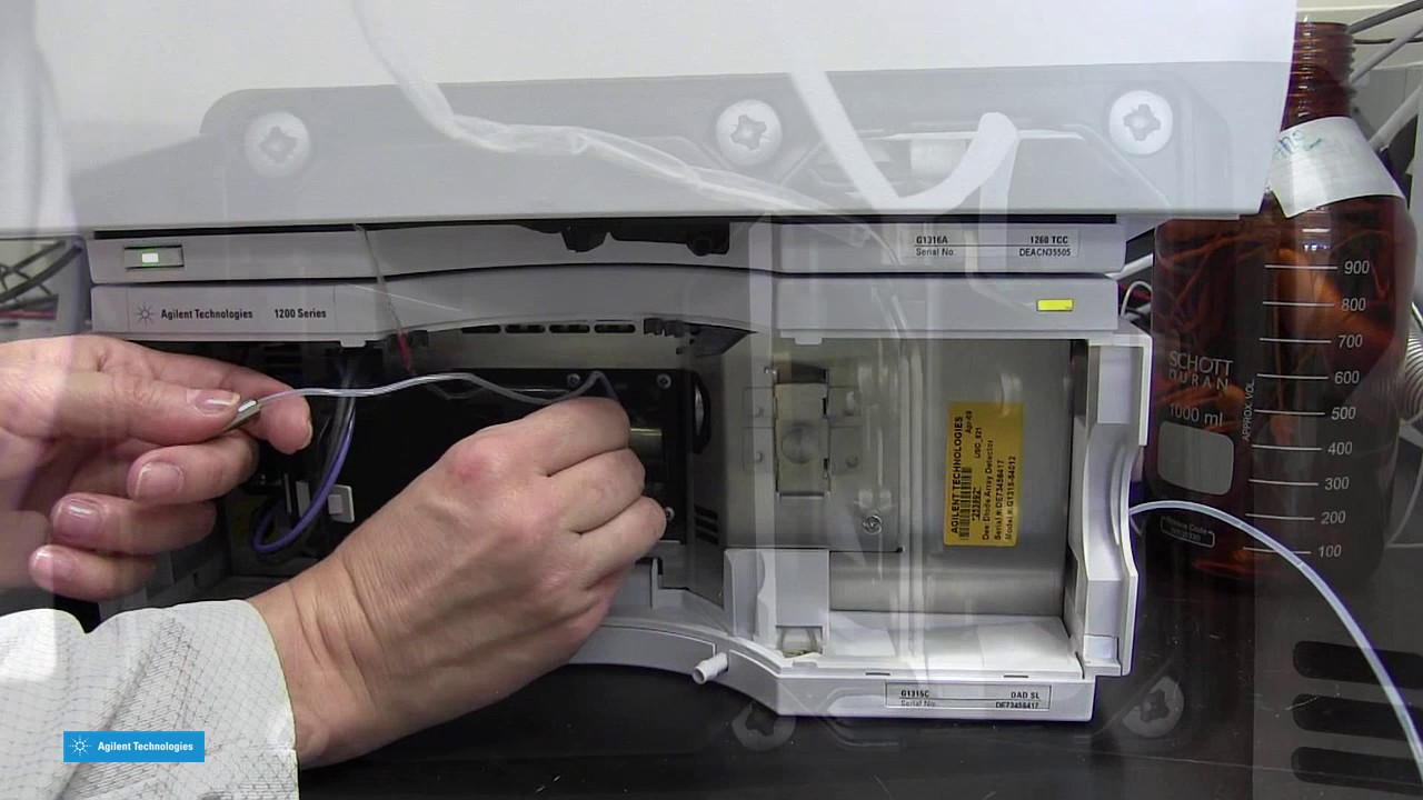 HPLC Maintenance - Replacing the Flow Cell in the Agilent G1315X DAD