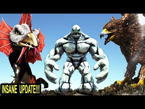 ARK GLACIER GOLEM, COCKATRICE + NEW GRIFFIN & MORE!! Ark Survival Evolved Pyria Mythos Evolved Mod