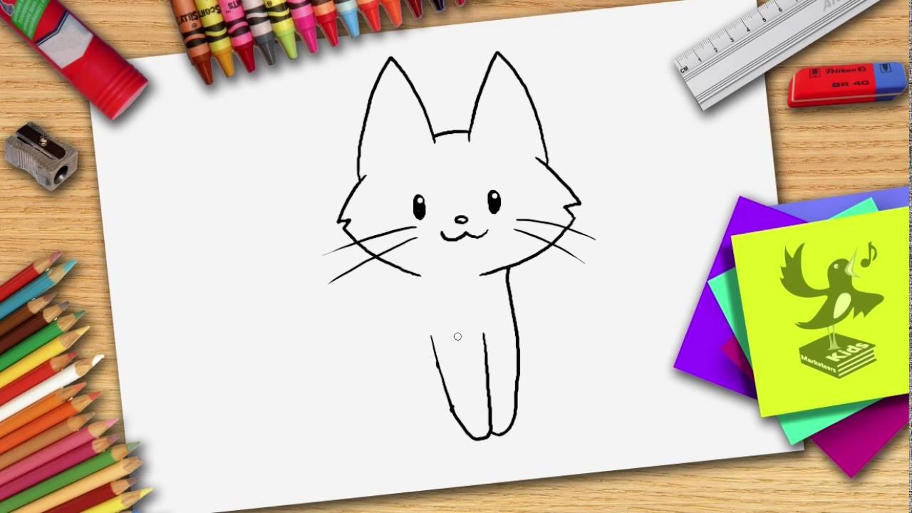 Kleurplaten Poezen En Honden Samen.Hoe Teken Je Een Kat Zelf Een Poes Leren Tekenen Youtube