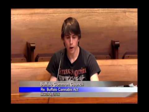 Buffalo Common Council Hears Buffalo Cannabis Act [3-8-16]