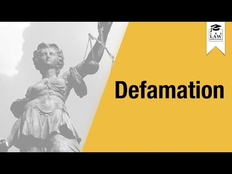 torts defamation Defamation lecture notes defamation is a complex and detailed tort below i will present only an outline of the law, which will be further.