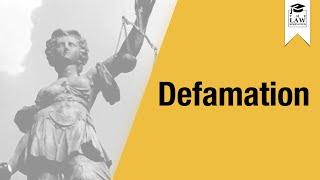 tort law defamation