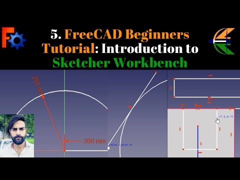 5. FreeCAD Beginner Tutorial: Introduction to Sketcher Workbench