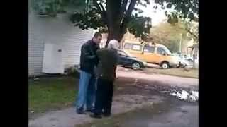 Repeat youtube video DUDE GETS KNOCKED OUT FOR TALKING SHIT TO OLD MAN