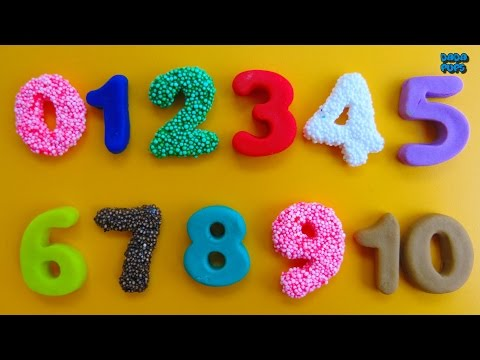 Thumbnail: Learn To Count 0 to 10|Play Doh Numbers|Squishy Glitter Foam Numbers|Learning Numbers|Numbers 0-10
