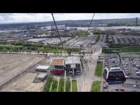 "A ride on the ""Emirates Air Line"" London's only Cable Car, a full POV return trip journey in 1080 HD"