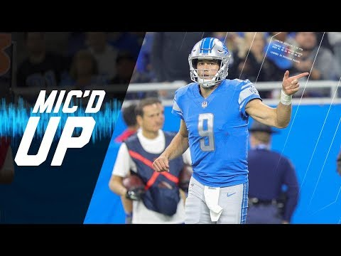 "Matthew Stafford Mic'd Up vs. Browns ""I Just Threw You a Punt, It was Wobbling"" 