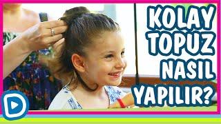 Kolay Saç Topuzu Nasıl Yapılır ? - Kız Çocuklarına Saç Modelleri