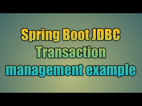 96 Spring Boot JDBC Transaction management example