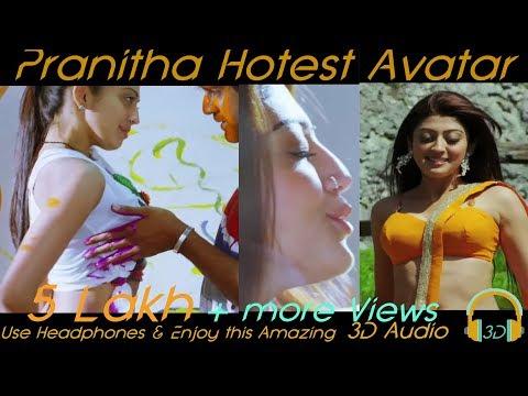 Pranitha Subhash Hot Avatar Special Edition use Headphones & Enjoy This Amazing 3D Sound