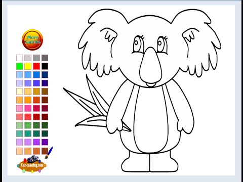 Koala Bear Coloring Pages For Kids Koala Bear Coloring Pages YouTube