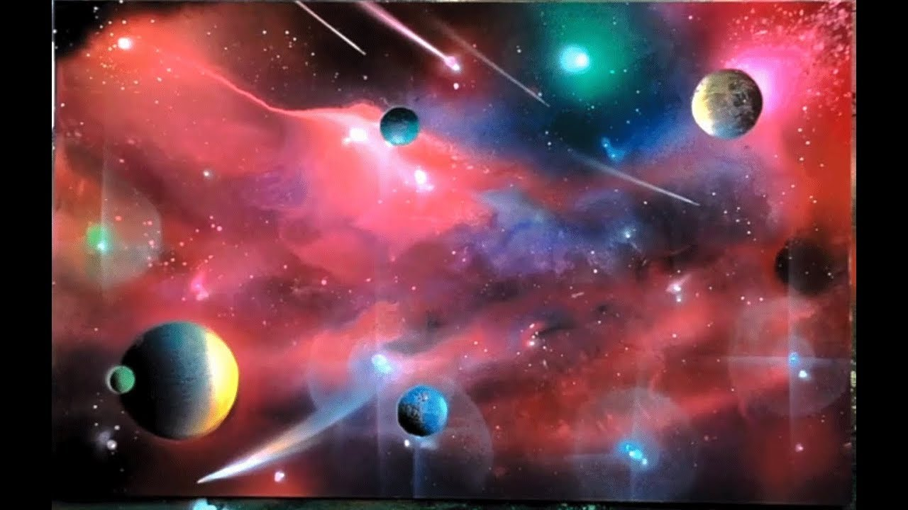 Spray Painting Art Of Red Planets