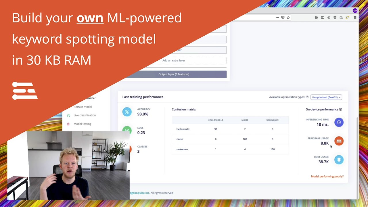 Download Build Your Own ML-Powered Keyword Spotting Model in 30KB RAM