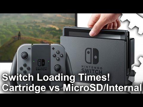 Switch Loading Times! Cartridges vs Micro SD vs Internal Storage!
