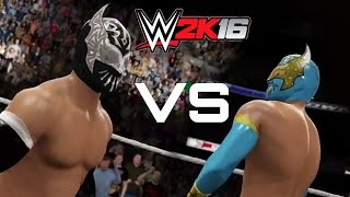 WWE 2k16 Highlights/Simulation-Sin cara VS Sin cara-mask vs mask match(azul VS negro)