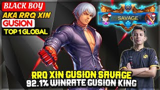 Download RRQ XIN GUSION SAVAGE, 92.1% Winrate Gusion King [ Top 1 Global Gusion ] BLACK BOY - Mobile Legends