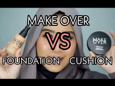 MAKE OVER POWERSTAY DEMI MATTE COVER CUSHION VS WEIGHTLESS LIQUID FOUNDATION