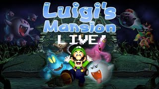 Luigi's Mansion Live-stream! Let's go ghost hunting and beat this game!