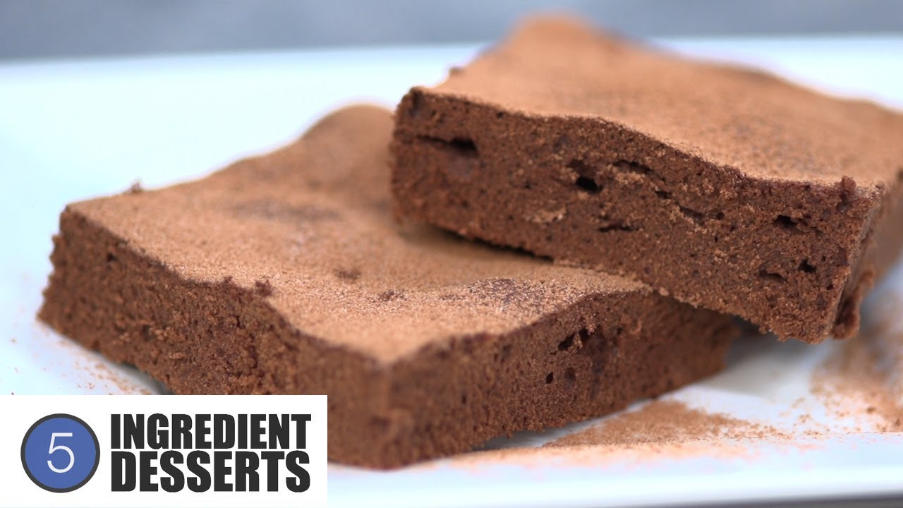 Easy Chocolate Brownies 5 Ingredient Desserts Youtube
