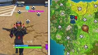 """Score a goal on different pitches"" All Locations Fortnite Week 7 Challenges All Pitch Locations!"