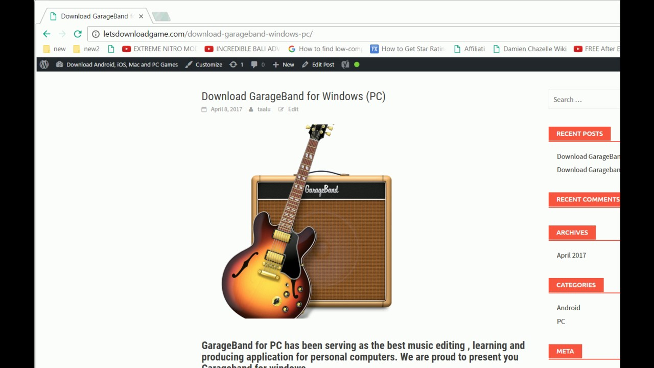 how to download mac garageband for windows