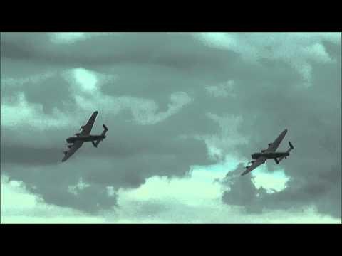 Avro Vulcan Bomber & Double Avro Lancaster Bombers