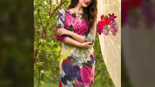 Latest lawn material dresses for festival beautiful design look at once u will love it