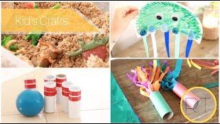Kids Crafts & Games (Dinosaur Excavation, Bowling Pins, Ring Toss)