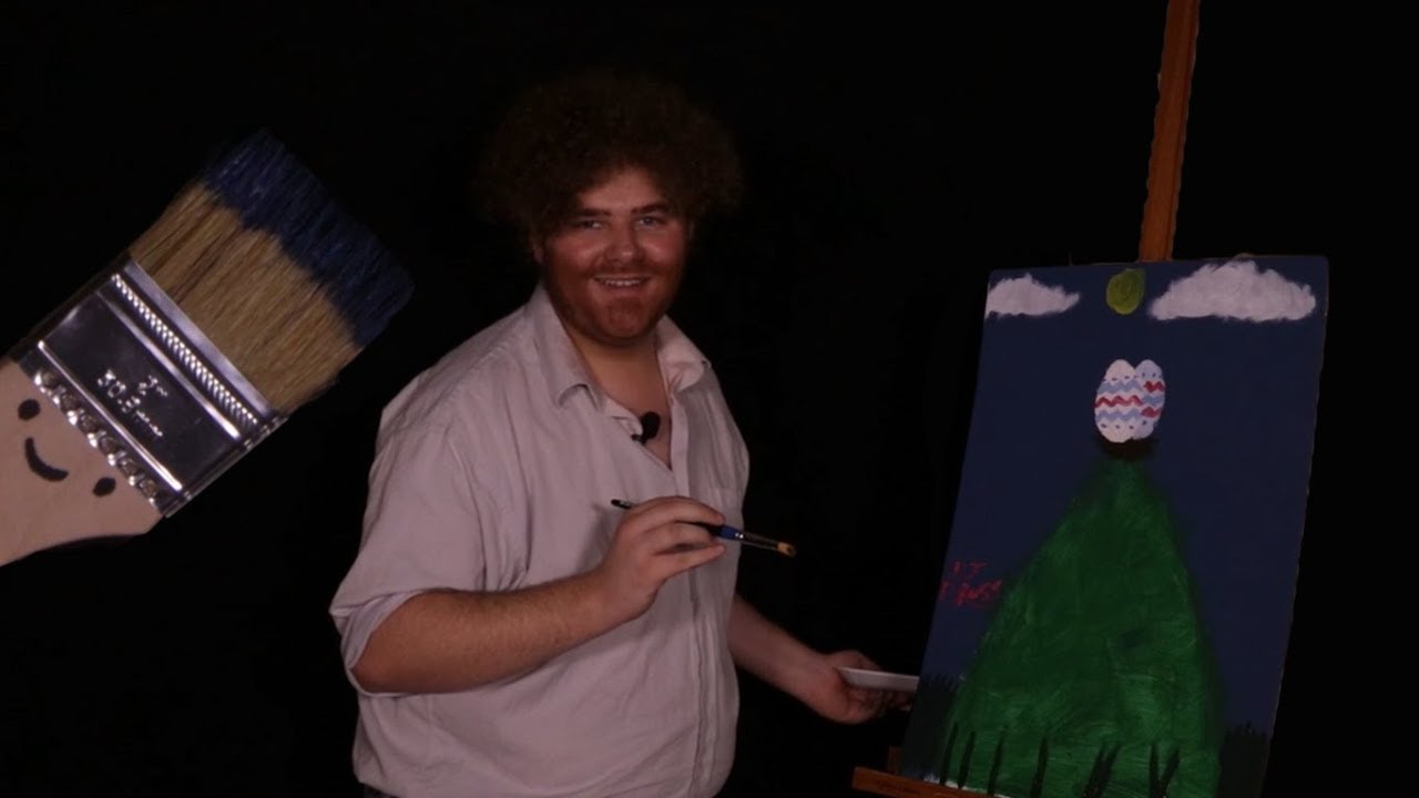 Bob Ross and the Easter Bunny's Special Little Eggs