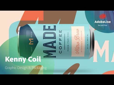 Live Graphic Design & Packaging with Kenny Coil 1/3