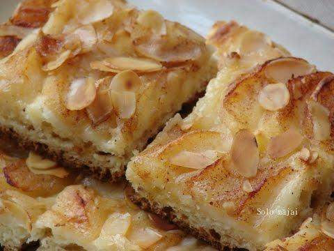 Яблочный тарт с творожным
