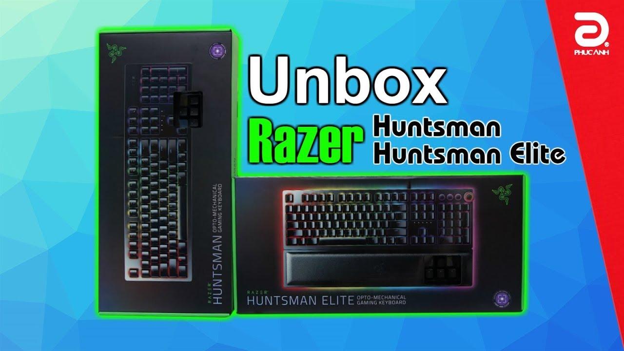 Razer Huntsman \u0026 Razer Huntsman Elite   Mở Hộp Và So Sánh