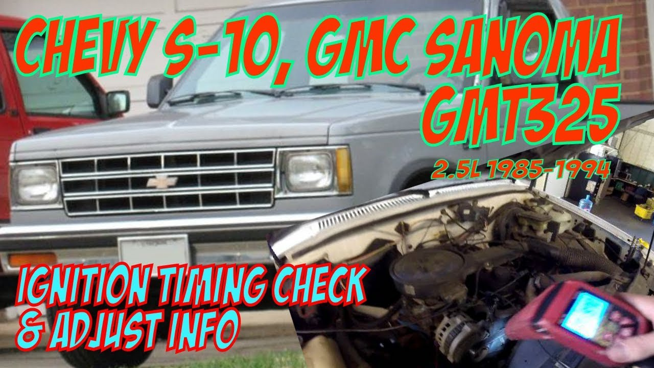 Ignition Timing Gmc Sanoma S 15 Chevy 10 25l Tbi Gmt325 Youtube 1987 Wiring