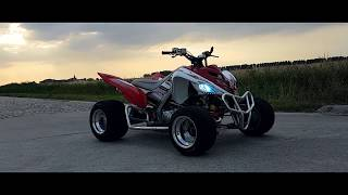 yamaha raptor 700 first drone video