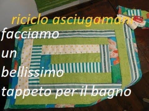 Tappeti In Tessuto Riciclato : Riciclo asciugamani e tessuti : semplice tappeto per il bagno youtube
