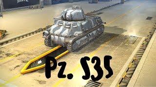 World of Tanks Blitz. Pz. S35 (прем танк 3 уровня). Летсплей