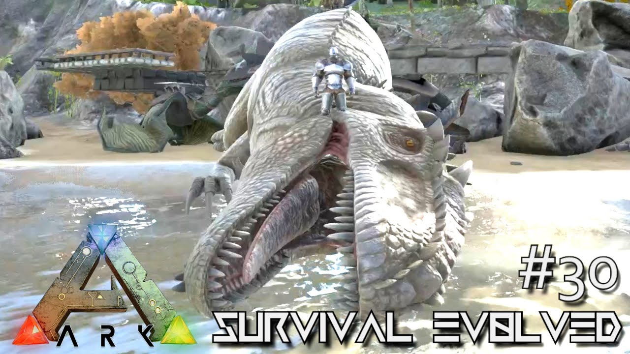 ARK: Survival Evolved - TAMING GIGANOTOSAURUS NEW DINO ...