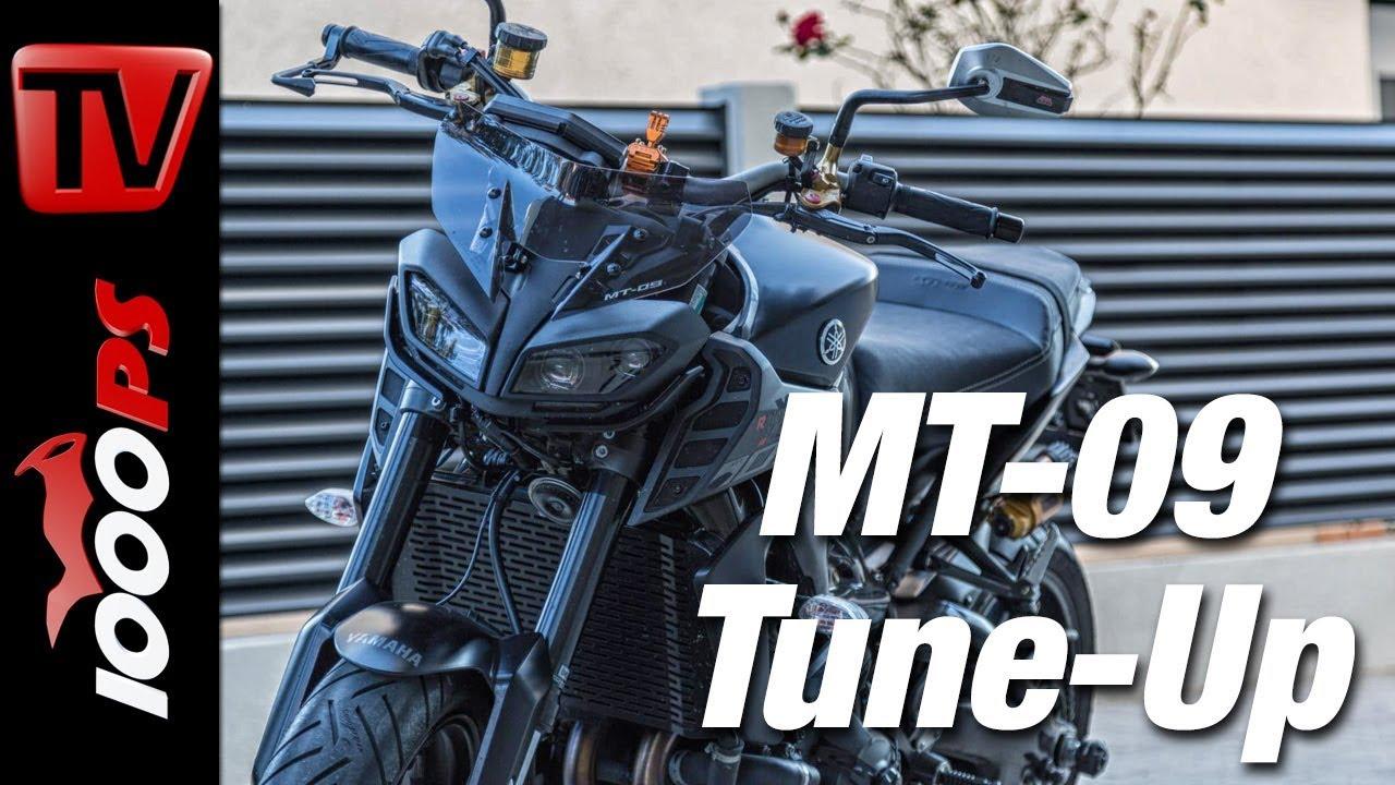 Yamaha MT-09 2017 Tuning Projekt - mehr Leistung, Fahrwerk und Optik